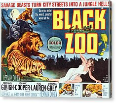 Black Zoo, Middle Right Michael Gough Acrylic Print by Everett