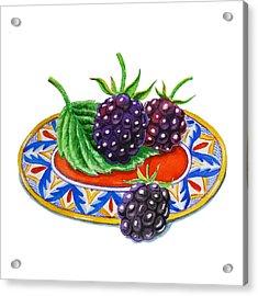 Blackberries Acrylic Print by Irina Sztukowski