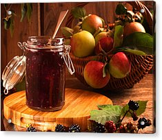 Blackberry And Apple Jam Acrylic Print by Amanda Elwell