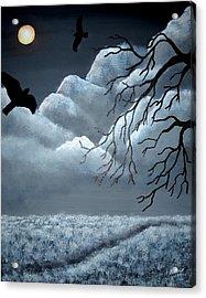 Blackbird Acrylic Print by Edwin Alverio