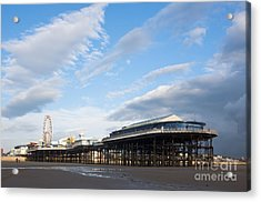 Blackpool Pier Acrylic Print by Andrew  Michael