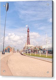Blackpool Tower And Oar Acrylic Print by Sarah Couzens