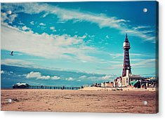 Blackpool Tower And Pier Acrylic Print by Michelle McMahon