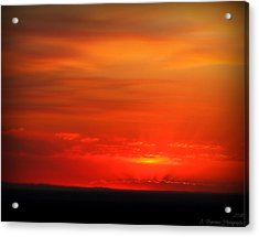 Blacks And Reds Acrylic Print by Aaron Burrows