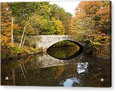 Blackstone Valley River Bridge Acrylic Print