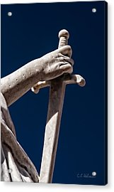 Blade In Hand Acrylic Print by Christopher Holmes