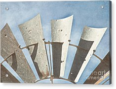 Blades - Texture Acrylic Print by Bob and Nancy Kendrick