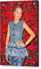 Blake Lively Wearing A Chanel Couture Acrylic Print by Everett
