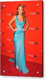 Blake Lively Wearing A Zuhair Murad Acrylic Print by Everett