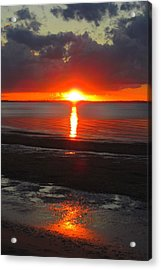 Acrylic Print featuring the photograph Blazing Sunset by Ramona Johnston
