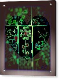 Bleeding Hearts Acrylic Print by Jan Steadman-Jackson