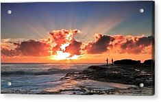 Blessed Fishermen Acrylic Print by Mark Lucey