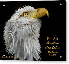Blessed Is The Nation Acrylic Print by Grace Dillon