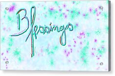 Blessings Acrylic Print by Rosana Ortiz