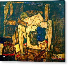Blind Mother By Egon Schiele Acrylic Print by Pg Reproductions