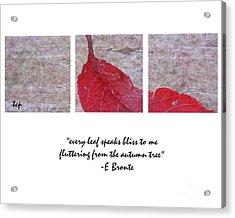 Bliss Acrylic Print by Traci Cottingham