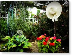 Blissful Garden Acrylic Print by Trudy Wilkerson