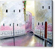 Blissful Reflections Of Venice Acrylic Print