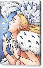 Blissful Winter Acrylic Print by Amy S Turner