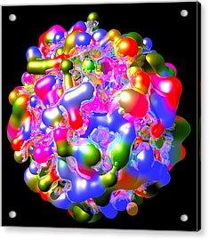 Acrylic Print featuring the digital art Blob Of Color... by Tim Fillingim