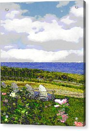 Block Island Sea Chairs Acrylic Print