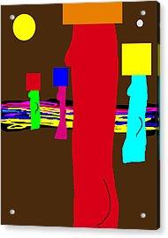 Blockhead Nudes Acrylic Print