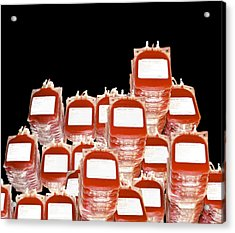 Blood Bags Acrylic Print by Victor Habbick Visions