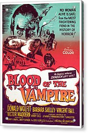 Blood Of The Vampire, Donald Wolfit Acrylic Print by Everett