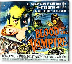 Blood Of The Vampire, Girl On Table Acrylic Print by Everett