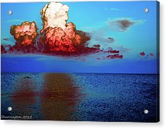 Blood Red Clouds Acrylic Print by Shannon Harrington