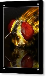 Acrylic Print featuring the digital art Blood Shot 02 by Kevin Chippindall