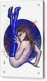 Bloody Girl 2 Acrylic Print by Marco Turini