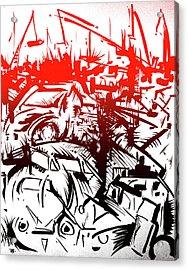 Bloody Junkyard Acrylic Print