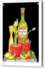 Acrylic Print featuring the painting Bloody Mary by Anne Beverley-Stamps