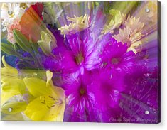 Bloom Zoom Acrylic Print by Charles Warren