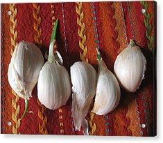 Blooming Garlic Bulbs Acrylic Print