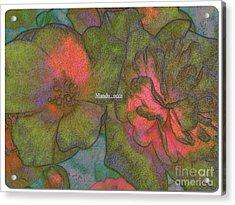 Blooms Line Acrylic Print