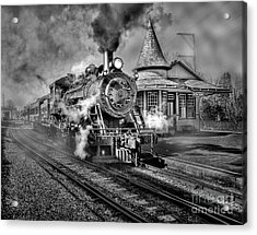 Blowing Off Some Steam Acrylic Print by Susan Candelario