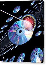 Blu-ray Discs Acrylic Print by Victor Habbick Visions