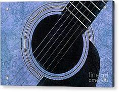 Blue 2 Guitar Acrylic Print