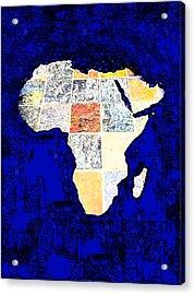 Blue Africa Acrylic Print by Anne Mott