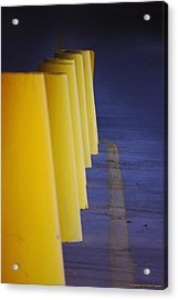 Blue And Yellow Acrylic Print