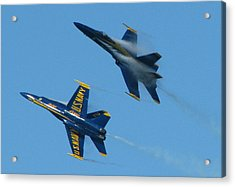 Blue Angels Break Acrylic Print by Samuel Sheats
