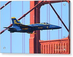 Blue Angels F-18 Super Hornet . 7d8055 Acrylic Print by Wingsdomain Art and Photography