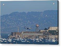Blue Angels Fat Albert C130t Hercules Across San Francisco Alcatraz . 7d7937 Acrylic Print
