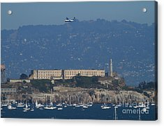 Blue Angels Fat Albert C130t Hercules Over Alcatraz . 7d7930 Acrylic Print by Wingsdomain Art and Photography