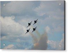 Blue Angels Roaring By Acrylic Print
