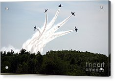 Blue Angels Star Burst Acrylic Print by Kevin Fortier