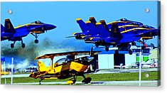 Blue Angels Taking Off Acrylic Print