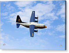 Blue Angles C130 Acrylic Print by Kevin Schrader